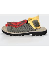 Chubasco Men-aztec Sandals S80426 Olive Red - Multicolour