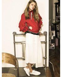 OUAHSOMMET Multi-length Pleats Skirt_wh - White