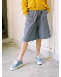Noir Jewelry Stripe Pants Blue