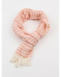 W Concept - Imabari Scarf 70 _ Stripe Pink - Lyst