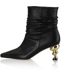 Yuul Yie Baby-tisha Ankle Boots / 21rs-b563 / Black+gold