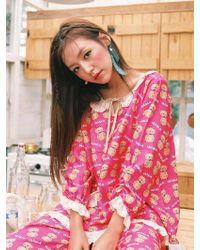 ULLALA PAJAMAS - Cookie Bear Hot Pink Women Long Sleeve Two Piece - Lyst