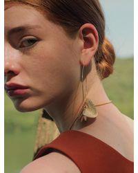 1064STUDIO Classic Folding Earring One Point - Metallic