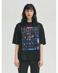 Add - Graphic Velcro T-shirt Black - Lyst