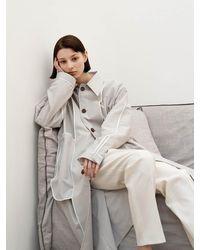 AVA MOLLI [summer Wool] Reversible Mac Coat - Grey