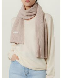 LE CASHMERE Ribbed Scarf - Natural