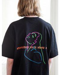 XTONZ Xtt022 Donna Short Sleeve T-shirt (black)