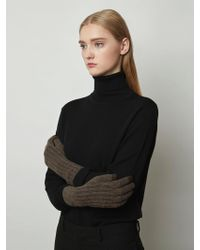 MADGOAT - Cashmere Touch Gloves Brown - Lyst