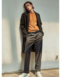 YAN13 - One Button Coat Black - Lyst