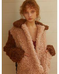 Fleamadonna Triple Colored Fur Jacket Pink