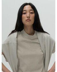 Amomento Garment Dyed T-shirt - Grey