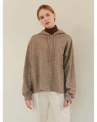 among A Basic Wool Hoodie - Natural