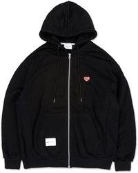 URBANDTYPE Love Mini Logo Hoodie - Black