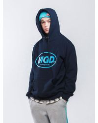MAHAGRID [priority Shipping] Mgd Hoodie 3 Colors - Blue