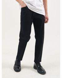 Plac Cropped Milan Rinsed Jeans - Black