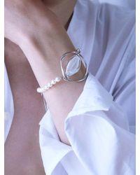 Matias - Twist Silver Glass Bracelet - Lyst