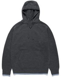 LIFUL MINIMAL GARMENTS - Pullover Knit Hoodie Charcoal - Lyst
