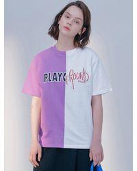 Blank Play Ground T - Purple