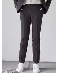 W Concept - Touch Basic Pants Green - Lyst