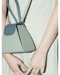 Atelier Park Colour Block Handle Bag Green