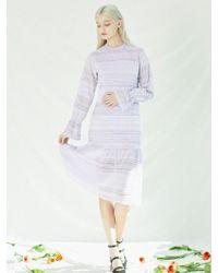 W Concept Love Me Dress Lavender - Multicolour
