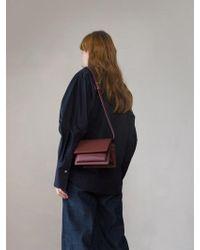 DEMERIEL - Classic Bag Bordeaux Mini - Lyst