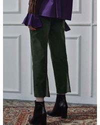 Clue de Clare - Back Zipper Pants Khaki - Lyst