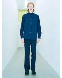 LIT. Signature Cotton Pocket Shirts [navy] - Blue