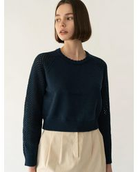 among A Waffle Raglan Knit Pullover (3 Colors) - Pink
