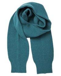 MADGOAT Cashmere Long Sleeve Muffler Turquoise - Blue