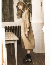 OUAHSOMMET - Embroidery Silk Dress_bg - Lyst