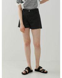 among Cotton Banding Shorts - Black
