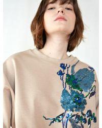 W Concept - Flo Beads Sweatshirt - Lyst