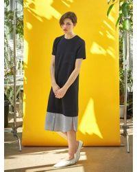 COLLABOTORY - Shirt Layered Modern Dress - Lyst