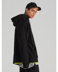 COSTUME O'CLOCK - Smcocl K Oversized Hooded Sweatshirt Black - Lyst