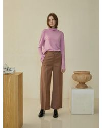 W Concept - Minimal Wool Slacks Pink - Lyst