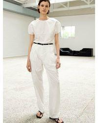 OUI MAIS NON Collin Air-nylon Slacks Trousers - Natural