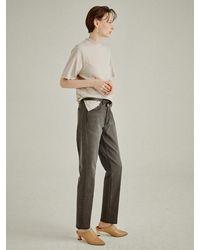 a.t.corner [premium Kilim] Signature Girl-fit Denim Pants - Grey