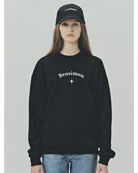 Bensimon Eye Logo Sweatshirt - Black