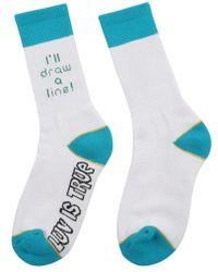 W Concept - [unisex] Sd Line Socks White - Lyst