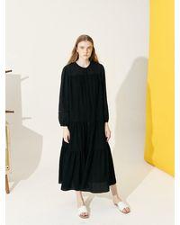 COLLABOTORY Soft Peasant Dress (2 Color) - Black