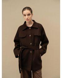 AVA MOLLI Victoria Shirts Jacket - Brown