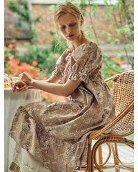 ULLALA PAJAMAS Renoir Pyjama Dress - Natural