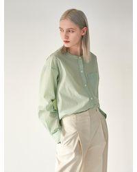 COLLABOTORY Round Shirt Blouse - Green