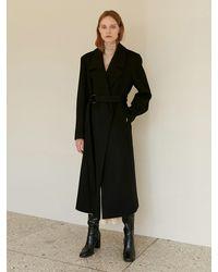 among A Wool D Ring Coat - Black