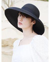 SLEEPYSLIP Lorient Wide Ribbon Hat - Black
