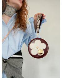 UNDER82 - Camilla Flower Mini Wallet Burgundy - Lyst