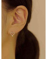 FLOWOOM Heart Petit Earring - White