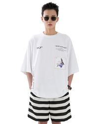 Heich Blade Fly Graphic Mega One Piece T-shirt - White
