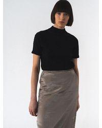Amomento Silky Padded Skirt - Black